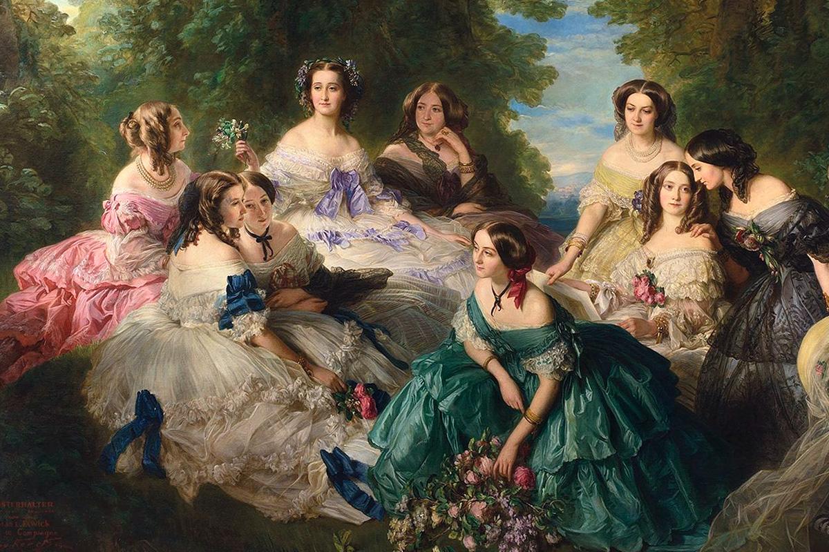 19th century. Women's headdresses and hairstyles