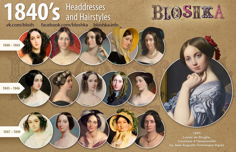 century womens headdresses  hairstyles bloshka