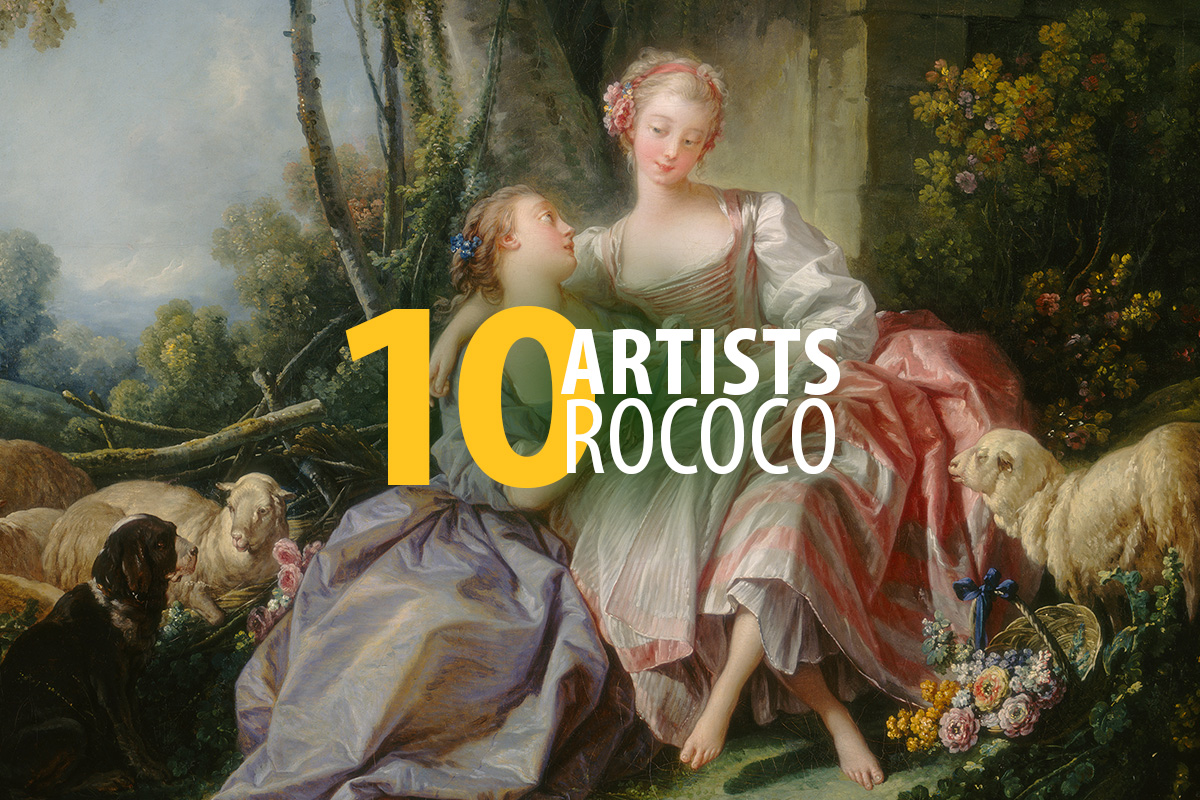 Rococo painting. 10 artists.